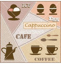 Theme of coffee vector by alexzel on VectorStock®