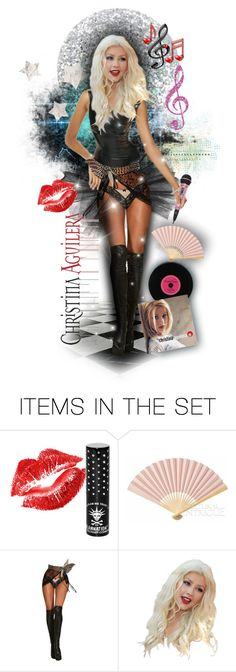 """Christina Aguilera"" by tracireuer ❤ liked on Polyvore featuring art and christinaaguilera"