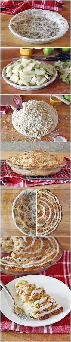 Cinnamon Roll Apple Pie- El sitio no está más. Verlo como idea base