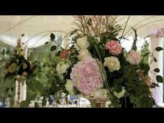 An overview of wedding flowers for a marquee wedding in Mount Juliet Estate, Thomastown, Co. Kilkenny, Ireland, by Dutch Master Florist, Lamber de Bie.  Lamber de Bie Flowers have shops in Kilkenny, Ireland and Waterford, Ireland.  http://www.lamberdebie.ie