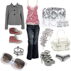 I could wear everything but the heels ... I would get as far as the front door, maybe!  polyvore.com