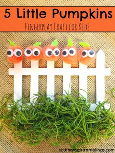 5 Little Pumpkins Craft for Kids - Southern Girl Ramblings