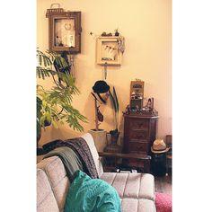 カリモク60/植物/クッション/キャビネット/エバーフレッシュ/カリモクソファー…などのインテリア実例 - 2014-05-21 18:00:59 | RoomClip(ルームクリップ)