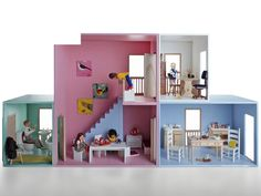 Hase Weiss modular dollhouses can be reconfigured in myriad ways