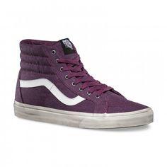 Vans Sk8-Hi Reissue Schuhe (Overwashed) Potent Purple/True White