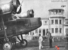 """Vliegveld Welschap uit de """"Panorama-Ons Zuiden"""" nr 33 van 22 augustus 1935. fotonr 20584"""