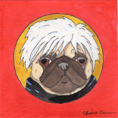 Andy Warhol Pug Art by Claire Chambers // Chickenpants.com