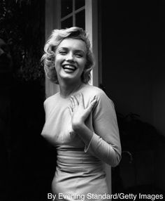 Marilyn Monroe outside her home at Englefield Green, July 17th, 1956
