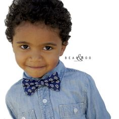 Perfectly Paisley bow ties for boys from Bear & Boo.