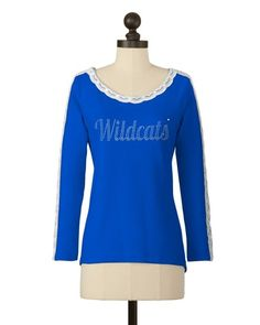 Kentucky Wildcats | Lace Sleeve Detail Top | meesh & mia