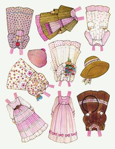 Ginghams Paper Dolls: Lots of FREE and ADORABLE paper dolls!