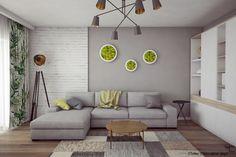 Amenajare Apartament in stil Scandinav cu Accente Tropicale