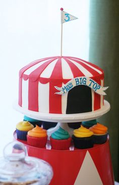 Circus party cake...even has the right name on it :)