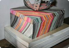 Erica of Retropolitan knocks of W. Elm box by decoupaged wood box fm thrift w marbled paper.