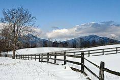 Peaks of Otter ... Winter along the Blue Ridge Parkway in Virginia