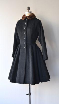 Ebberlund coat vintage 1940s wool coat 40s by DearGolden on Etsy