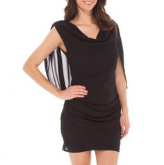Back Cape Dress with Shiring - Spring Into Stylish Apparel - Events