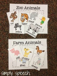 Can make this into a folder game, zoo and farm animal sort