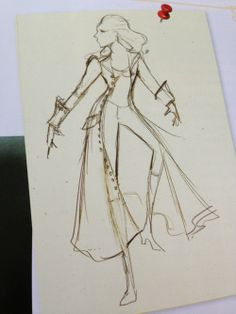 Original jacket concept for Emma Swan, season one. I think Hook would have liked her in this
