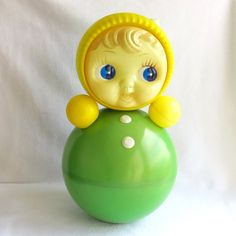 Vintage Plastic childrens tumbler - Roly Poly Ding Doll - Nevalyashka - from Russia / Soviet Union / USSR 1960 -s Rare Soviet tumbler. Celluloid. Classic. No chips or cracks. The musical mechanism works uncorrectly. More Roly-poly dolls you can see: https://www.etsy.com/shop/VintageSSSR?section_id=17846337&ref=shopsection_leftnav_5