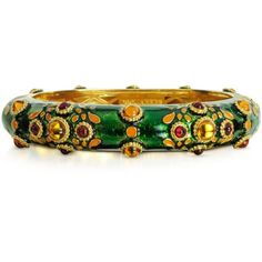 DSquared2 Bracelets Charlotte Brass and Enamel Bracelet (€345) ❤ liked on Polyvore featuring jewelry, bracelets, green, dsquared2, green bracelet, bracelet jewelry, enamel bangle and brass bracelet