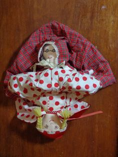 Vintage Topsy Turvy Dolls Hand Made Unique Red by PopPawsPlace, $24.50