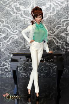 ELENPRIV White leather pants for Fashion royalty FR2 and similar body size dolls. by elenpriv on Etsy