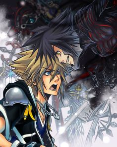 "Light_and_Darkness Sora: ""Your done for, this ends NOW!"" Vanitas: ""Shut up and vanish already!"" by blackenedkrono"