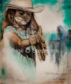 Don't Need No Stinkin' Lipstick ~ young cowgirl with attitude from notevena on Etsy