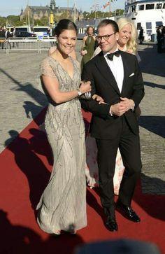 Crown Princess Victoria & Prince Daniel &Mette-Marit  Arriving For Pre-Wedding Gala.