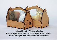 Digital Laser Pattern to make a Petite Cobble House gift tray. Your laser can raster and vector cut from this pattern