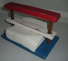 4th of July Old Wood Napkin Holder  RedWhiteBlue by AtticJoys1, $18.00