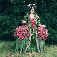 Artist Creates Stunning Garments From Fruit, Weeds, Flowers