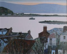 Mike Hall. Evening View over Harbour Houses