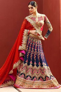 #AndaazFashion presents Red Art Silk Lehenga Choli and Net Dupatta  http://www.andaazfashion.fr/womens/lehenga-choli/buy-lehenga-red-art-silk-chaniya-choli-andaaz-fashion-dmv8514.html