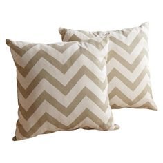 $56 for 2 Abbyson Living Jay Pillow Collection 18-inch Gold Chevron Throw Pillows (Set of 2) - Overstock