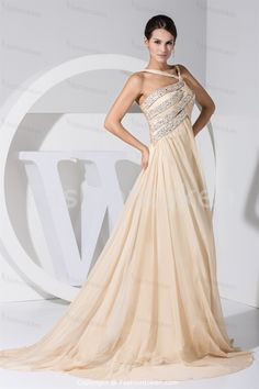 Champagne Holiday Puddle Train Chiffon Asymmetrical Special Occasion Dress Wholesale Price: US$ 169.99