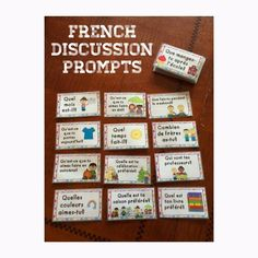 For French Immersion or Core French Learning French For Kids, French Language Learning, French Games For Kids, Spanish Language, How To Speak French, Learn French, Teaching French Immersion, Communication Orale, French Flashcards