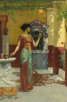 John William Godward (1861 - 1922) -The bouquet, 1899