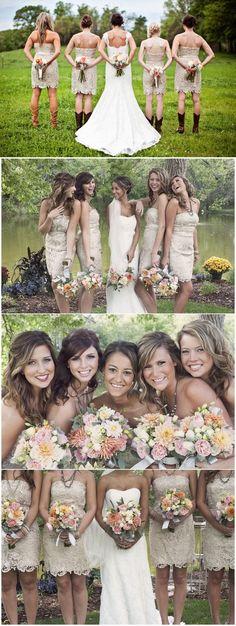 2016 bridesmaid dress, wedding party dress, strapless champagne short lace bridesmaid dress, 2016 short homecoming dress