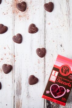 Organic Dark Chocolate Hearts for Valentine's Day - so cute! And Fair Trade, too. Equal Exchange Chocolate, Fair Trade Chocolate, Organic Dark Chocolate, Chocolate Hearts, Cocoa, Valentines Day, Pure Products, Crafts, Valentine's Day Diy
