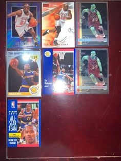 Lot of 7 Tim Hardaway Cards w/ Rookie Ants Marching, Tim Hardaway, Nba Sports, Fat Cats, Trading Cards, Badge, Baseball Cards, Badges