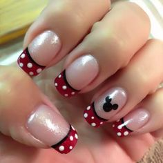 Easy Disney French Nails  | See more at http://www.nailsss.com/colorful-nail-designs/3/