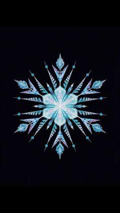 Elsa's snowflake (great for iPhone wallpaper)