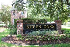 Ascension Parish Louisiana Beauty - Entrance To Seven Oaks At Oak Lane Farm Subdivision Off Hwy 73 in Prairieville