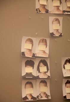 "ehanneri: ""why are their faces/eyes covered with a post it?"" ""see for yourself"" or ""there's nothing to cover"""