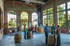 The spacious winery and tasting room at Elizabeth Chambers Cellar are located in a recently renovated power plant Elizabeth Chambers, Gazebo, Pergola, Willamette Valley, Tasting Room, Cellar, Oregon, Environment, Southern