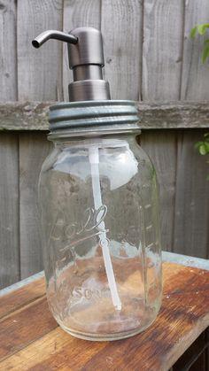 Ball Mason Jar Soap Dispenser by TrampsUK on Etsy, £33.50