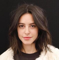 Messy Disconnected Brunette Bob