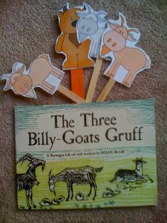 Preschool Printables: Free Billy Goat Gruff Puppet Sticks